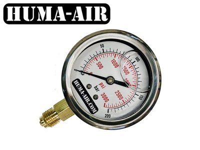 Pressure gauge 65 mm liquid filled G1/4 BSP