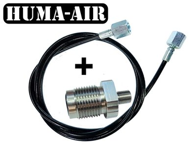 Din 300 adaptor with 1000 or 1500 mm. microbore fill hose